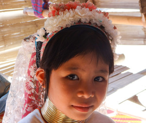 Headgear of child in Karen tribe